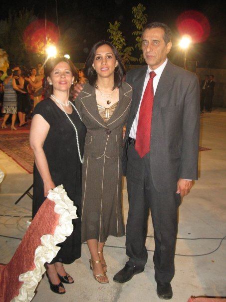 Haleh and her parents