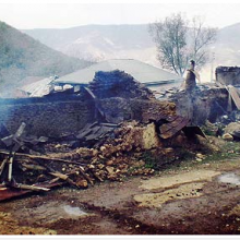 The homes of 50 Baha'i farming families were razed in Ivel, Iran on 26 June. Photograph: Baha'i World News Service