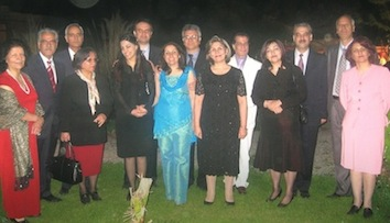 The seven Baha'i leaders imprisoned in Tehran are pictured together with their spouses, before their arrest in 2008.