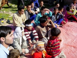 One of the classes organized for young people in Katsbas, outside Shiraz, Iran.