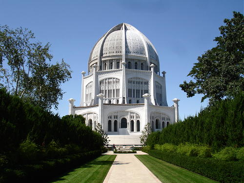 The Bahai house of worship in Chicago, Illinois