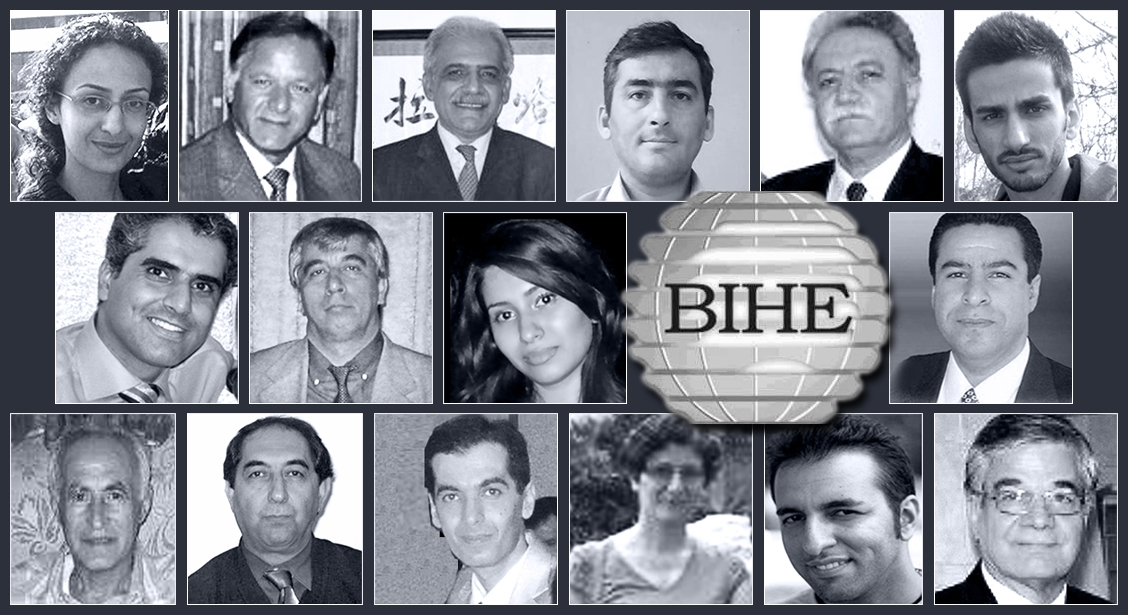 The 16 Baha'is detained after Iranian authorities raided homes associated with staff and faculty of the Baha'i Institute for Higher Education. One of them, Mr. Amir-Houshang Amirtabar – pictured bottom left – has now been released.