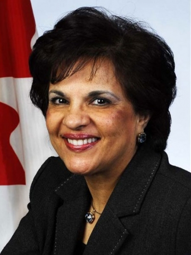 """Senator Mobina Jaffer. """"We must continue to stand up and directly face the threat presented by Iran to its own people,"""" Senator Jaffer told the Canadian Senate on 1 December."""