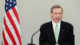 U.S. Republican Senator Mark Kirk is the chief sponsor of the resolution calling for the release of Baha'i prisoners.