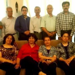 A photograph of Baha'is from across Iran who were arrested in 2012 and were all tried in Yazd at the same time.