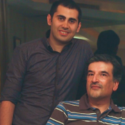 Aleddin Khanjani and his son-in-law Babak Mobasher