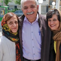 Mahmoud Badavam and family on the day of his release from prison.
