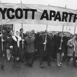 Anti-apartheid protests took place all over the world