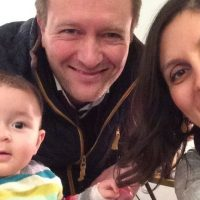 Nazanin Zaghari-Ratcliffe with her husband Richard and dauther Gabriella