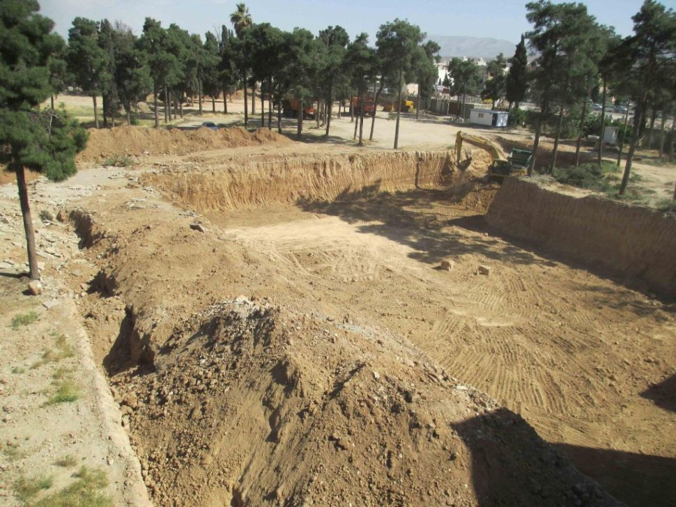 Excavation by Revolutionary Guards at the Bahá'í Cemetery in Shiraz. May 8, 2014. Bahá'í International Community