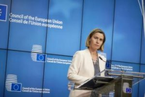 "Federica Mogherini, the European Union's High Representative for Foreign Affairs and Security Policy, was sent a statement by European parliamentarians about ""economic apartheid"" in Iran."