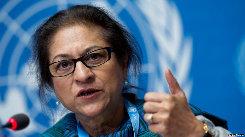 The UN's special rapporteur on the human rights situation in Iran, Asma Jahangir