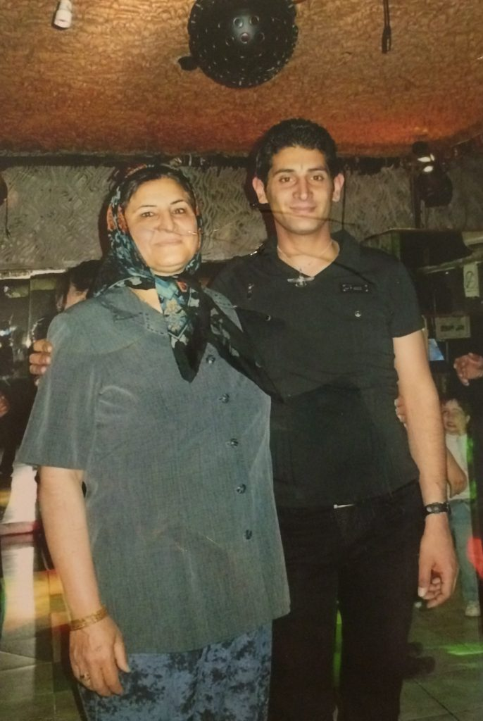 HASEL AFSHAR AND HIS MOTHER.