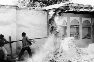 The House of the Bab in Shiraz, one of the most holy sites in the Baha'i world, was destroyed by Revolutionary Guardsmen in 1979 and later razed by the government | Baha'i Media Bank