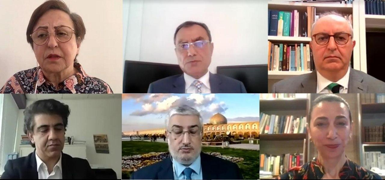 Article18's Mansour Borji (bottom-left) was one of the panellists during yesterday's webinar. (Photo: IOPHR)