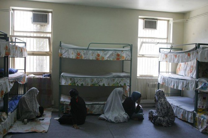 At Tehran's Evin prison, 12 of 17 incarcerated people tested in Ward 8 were positive for coronavirus in August. (File/AFP)