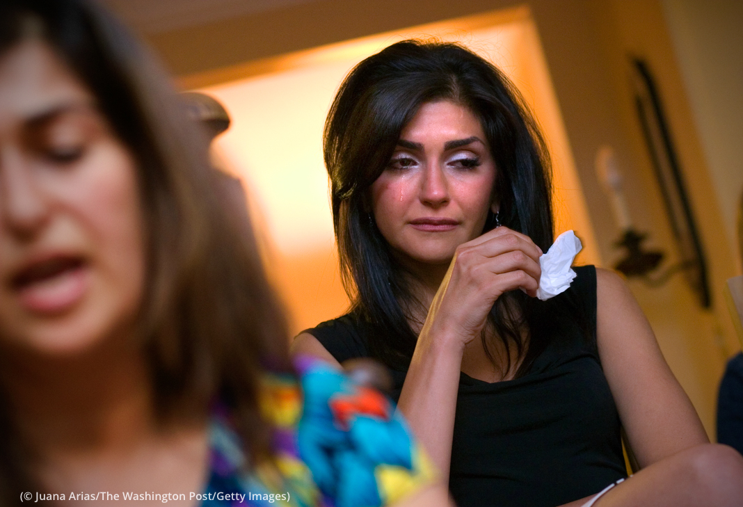 Mahtab Mortezaei Farid, at her home in the U.S. Her father, Kamran Mortezaei Farid, was sentenced to prison in 2011 by an Iranian court for providing higher education to Bahá'ís. (© Juana Arias/The Washington Post/Getty Images)