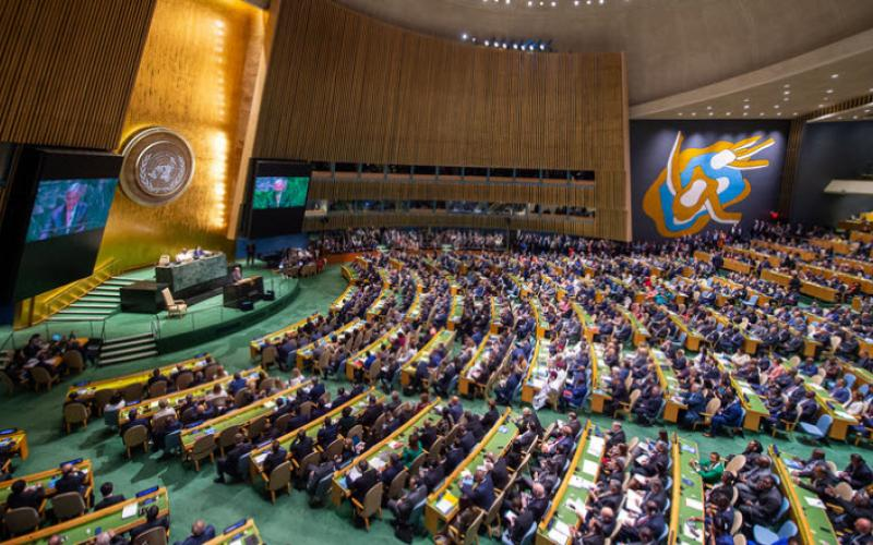 The United Nations General Assembly hall. Photo credit: nato.int