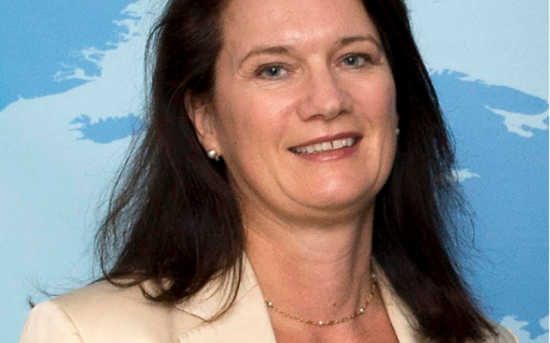 Foreign Minister Ann Linde of Sweden, who met virtually with representatives of the Baha'i community of Sweden and the BIC to discuss the persecution of Baha'is in Iran and Yemen. (Image credit: Ministerie van Buitenlandse Zaken)
