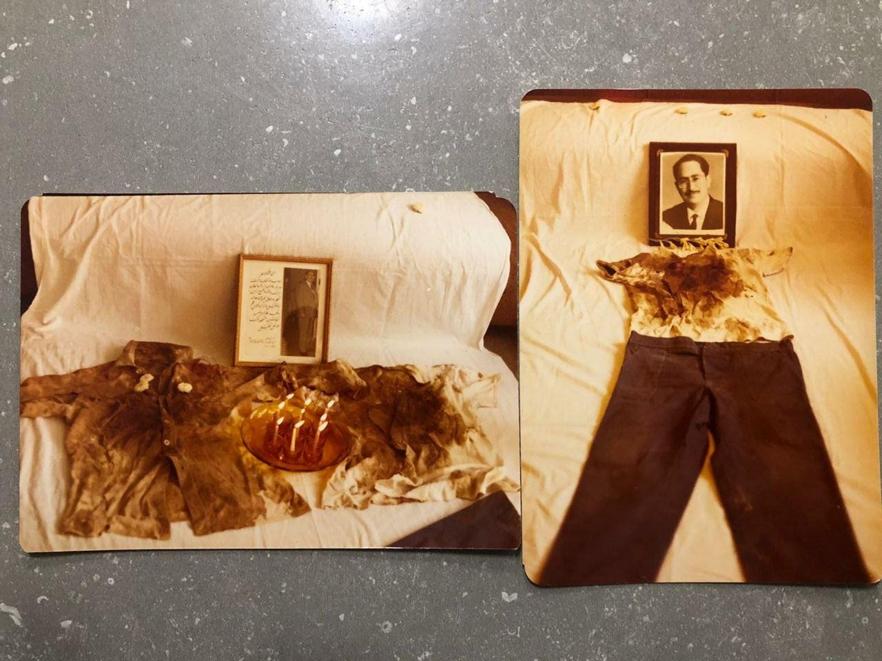Dr. Dakhili's clothes, pictured after the execution took place