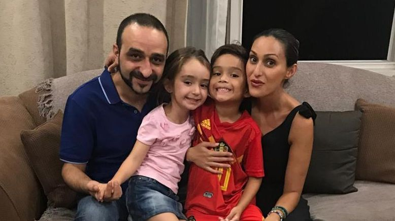 After fleeing Iran as a teenager, Nima Moradi, far left, is raising his own children in Australia.(Supplied)