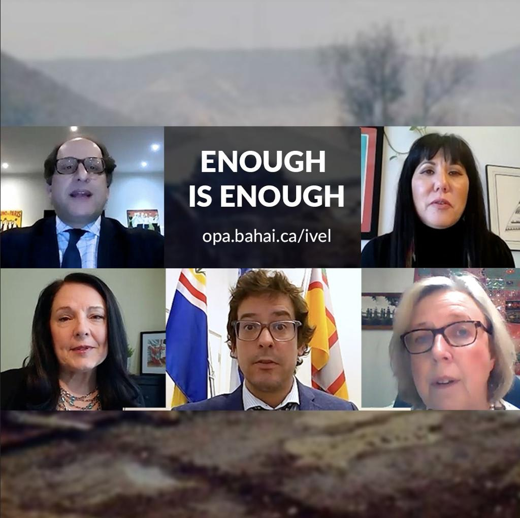 """Canadian MPs from all five political parties recorded a video calling on the Iranian authorities: """"Enough is enough""""."""