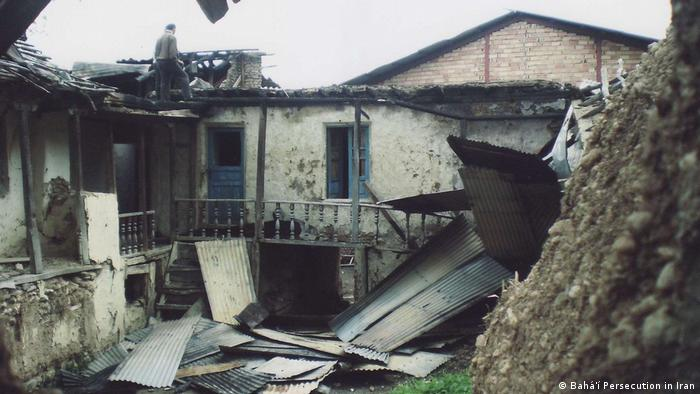 The targeted persecution of the Baha'i has seen homes like this one destroyed