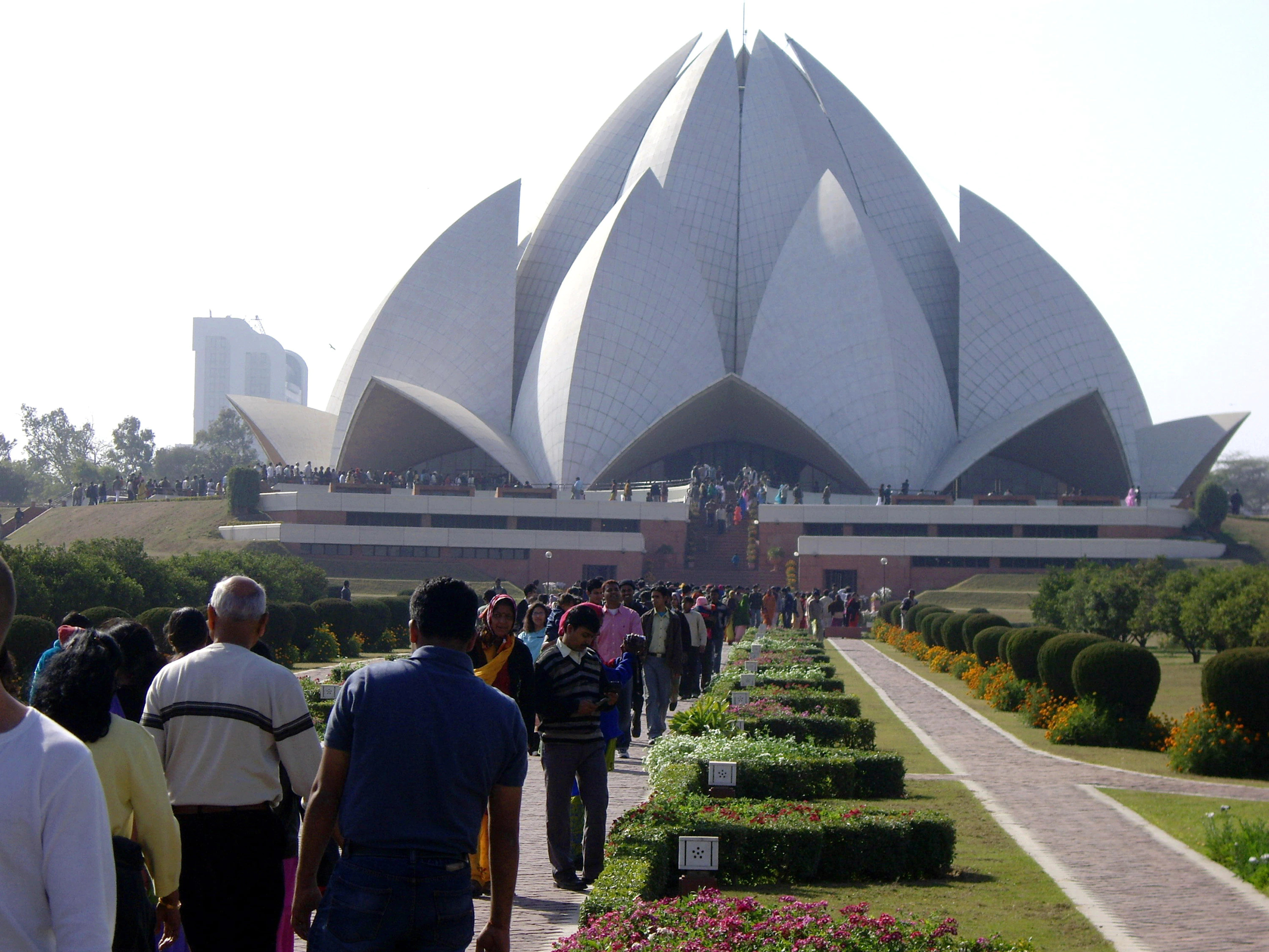 The Baha'i Lotus Temple in Delhi in pre-pandemic times. It is estimated there are some six million Baha'is worldwide.