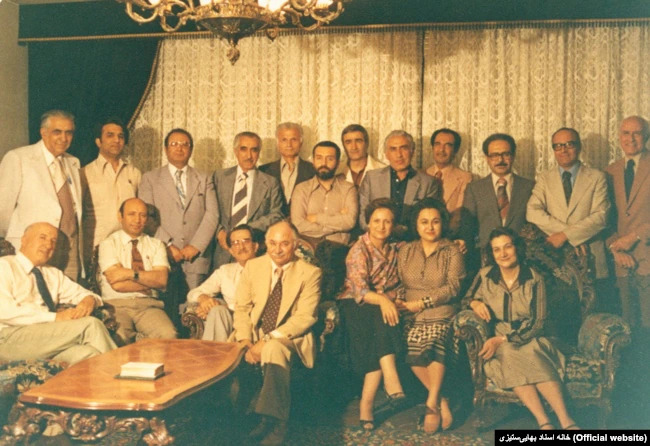 Members of the National Assembly of Iran and the members of the Local Assembly of Tehran in 1980; According to the Archives of Baha'i Persecution in Iran website, most of these individuals were executed