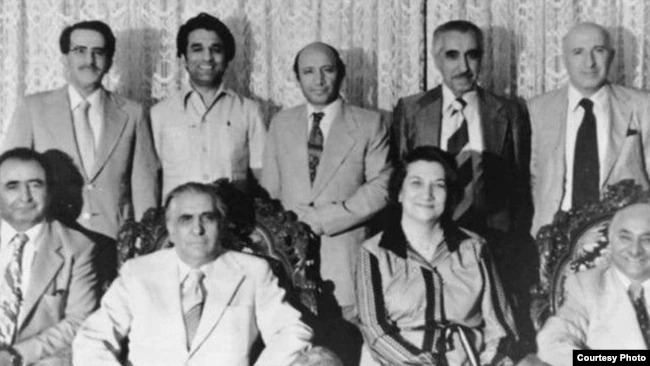 Members of the National Spiritual Assembly of the Baha'i of Iran, the First Formed following the January 1978 Revolution